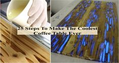 25 Steps To Make The Coolest Coffee Table Ever - Find Fun Art Projects to Do at Home and Arts and Crafts Ideas | Find Fun Art Projects to Do at Home and Arts and Crafts Ideas