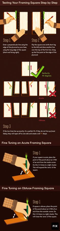 It's Hip to be Square: Ultimate Guide to calibrating your Framing, Triangle or Combination Square. #DIY