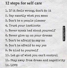 12 Steps For Self Care happy life happiness positive emotions lifestyle mental…