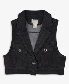 Cropped Denim Vest | FOREVER21 girls - 2019572066