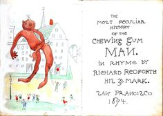 printed matter book cover most peculiar history of the chewing gum man title