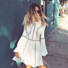 Twirling looks good in the Penelope Mini Dress @Whitneybearr Shop with link in bio. #ForLoveAndLemons #Holiday15