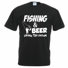 2017 New Brand Fashion Summer Match T-Shirt Fishinger Beer Fish Sporter Flying Fresh Fun Gift Ideas Tee Shirt brand T shirt(China (Mainland))