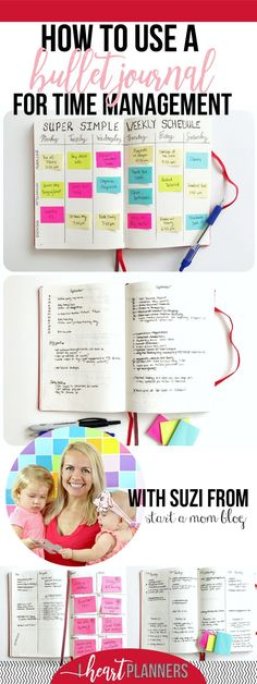 How to Use a Bullet Journal for Time Management – I Heart Planners - business management Bullet Journal Banners, Bullet Journal How To Start A, Bullet Journal Layout, Bullet Journal Inspiration, Bullet Journals, Journal Ideas, Bullet Journal Work, Bujo, Planner Stickers