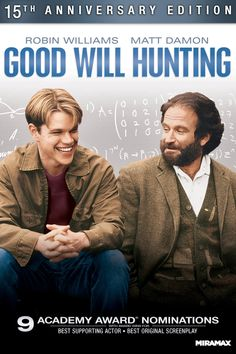 "Good Will Hunting - Gus Van Sant 1997 - DVD07455 -- ""A young working-class genius is hauled back from the brink of self-destruction by a gifted counselor."""