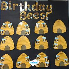 This pack contains all the resources you need to make an exciting bee-themed birthday display. Birthday Chart Classroom, Birthday Charts, Toddler Classroom, Preschool Classroom, Preschool Birthday Board, Birthday Display Board, Birthday Wall, Card Birthday, Birthday Quotes