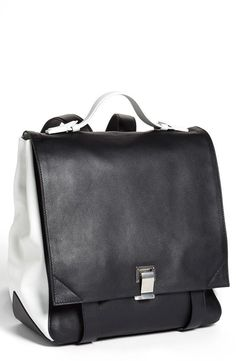 Proenza Schouler Black & White Colorblock Leather Backpack