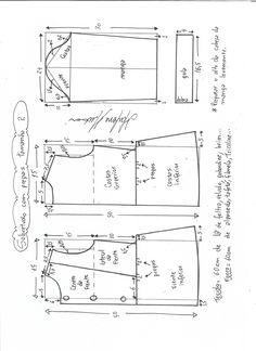 Patrón para hacer un lindo abrigo de otoño-invierno para niñas. Se puede personalizar quitando o dejando los detalles de elvolante o puntilla, tanto de la parte de bajo del vestido como la de los …