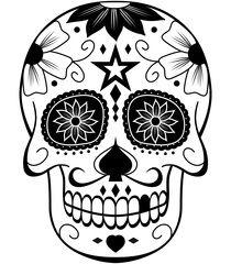 Caveira Mexicana Pb 2 Skull Coloring Pages Sugar Skull Drawing