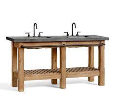 Abbott Double Sink Console | Pottery Barn