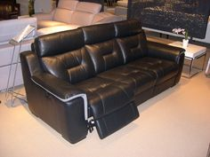 HTL Leather Reclining Sofa - Comfortable and classy. The perfect Grand furniture to snuggle on. Las Vegas Furniture Market, Grand Furniture, Sofa, Furniture, Home Furniture, Comfortable Sofa, Leather Reclining Sofa, Home Decor, Home Furnishings