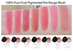 100% Percent Pure Fruit Pigmented Pot Rouge                                                                                                                                                                                 More 100 Pure Cosmetics, All Natural Makeup, Natural Beauty, Non Toxic Makeup, Blush Makeup, Beauty Makeup, Cruelty Free Makeup, Makeup Swatches, Perfect Pink