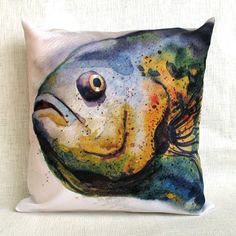The decorative cushion cover Fish for sofa cushion by SobolevaArt, $38.00