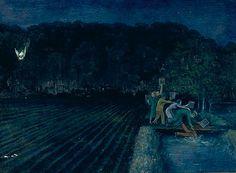 William Kurelek William Kurelek, Art Inuit, Canadian Prairies, Ottawa, Canadian Painters, Sun And Stars, Outsider Art, Nocturne, Illustration Art