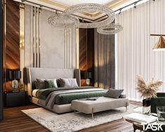 Modern Luxury Bedroom, Luxury Bedroom Design, Master Bedroom Interior, Modern Master Bedroom, Luxurious Bedrooms, Royal Bedroom, Interiores Design, Behance, 3ds Max