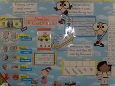 Love2Teach2 Blogspot: Everyday Math Wall and Other New Bulletin Boards