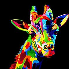 Now bring the painter in you come to life by creating this Giraffe Pop Art Paint By Number Kit. Colorful Animal Paintings, Colorful Animals, Colorful Owl, Painting Process, Diy Painting, Painting Canvas, Ciel Pastel, Pop Art, Giraffe Painting