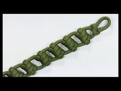 "Paracord Bracelet Tutorial: ""Ladder Strap"" Bracelet Design Without Buckle - YouTube"