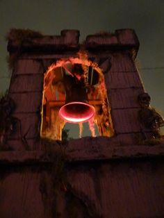 Bell Tower - NoRemorse Cemetery  yard haunt - Jim McCrary