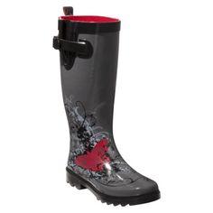 Womens Butterfly Rain Boot - Grey $29.99 size 8 target.com