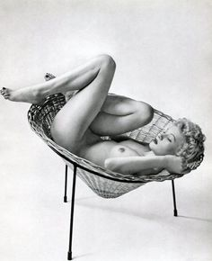 Zoltan Glass 'Nude In Wicker Chair' 1950s- hoodoo that voodoo
