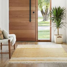 Modern Dhurrie Rugs | Mustard Area Rug Handcrafted in India – The Citizenry