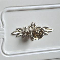 1 pc Brand New Antique Silver Rose Cabinet Drawer Furniture Door knob Handle Pull Hardware 103mm TO_GeT For Home Tools_TgT
