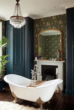 How to Create a Modern Victorian Interior Scheme is part of - Victorian homes are packed full of character with high ceilings and well proportioned rooms boasting beautiful detailing that oozes period charm It's important to make the most of your space, Bad Inspiration, Bathroom Inspiration, Bathroom Ideas, Bathroom Renovations, Bathroom Tubs, Master Bathroom, Bedroom With Bathtub, Tranquil Bathroom, Cosy Bathroom