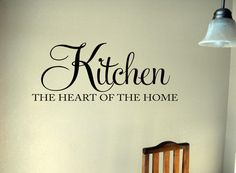 Kitchen Heart of the Home Vinyl Lettering Wall by OZAVinylGraphics