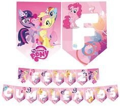 Banderin Imprimible My Little Pony #litte #pony #banderin #banner #printable #imprimible #cumpleaños #birthday