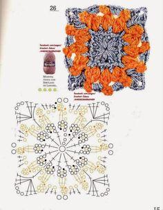 Como hacer módulos y flores en crochet