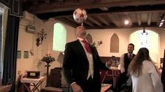 Watch Daniel Cutting amazing football skills on wedding day by clicking the image