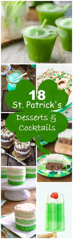 Irish Cream and green for the win on St. Patrick's Day with these 18 dessert and cocktail recipes!