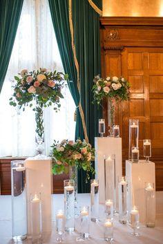 Erika & Vince – Elegant Wedding at The Fort Garry Hotel - wedding ceremony decor. #ceremonydecor #weddingdecoration