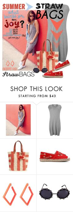 """""""Carry On: Straw Bags"""" by betiboop8 ❤ liked on Polyvore featuring Lipsy, Phase Eight, Sole Society, Moschino, Alexis Bittar and strawbags"""