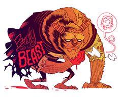 Disney's Beauty and the Beast by artist Dan Hipp