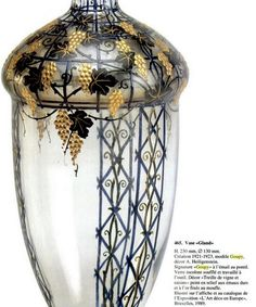 "Vase ""Gland"" . Création 1921-1923, modéle Goupy, decor A.Heiligenstein. H.230mm , signature ""Goupy"""