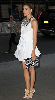 Olivia endorses necklace foundation - what about the shoes?