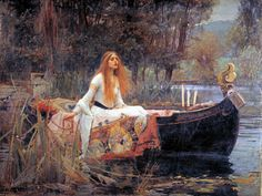 The Lady of the Shallot -  John William Waterhouse. One of my favorites