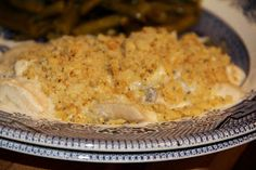 Deep South Dish: Southern Chicken Casserole Just made this with a twist. I substituted cream of broccoli for the cream of chicken and I added broccoli and mushrooms, and I used Ancient Grains crackers.