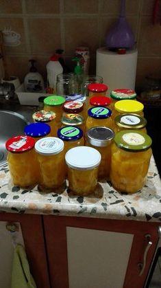 Dýňový kompot s ananasem, zavařený v myčce recept - TopRecepty.cz Pudding, Desserts, Food, Pineapple, Tailgate Desserts, Deserts, Custard Pudding, Essen, Puddings