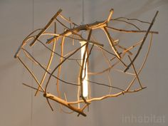 green design, eco design, sustainable design, Hinterland, driftwood lamp, Scatter/gather lamp, recycled lamp, sustainable lighting, Riley McFerrin, ICFF
