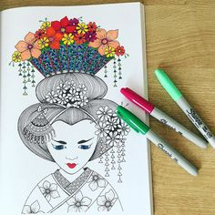 Weekend #colouringin Like if you also indulge! #colouring #colouringinforgrownups #sharpies