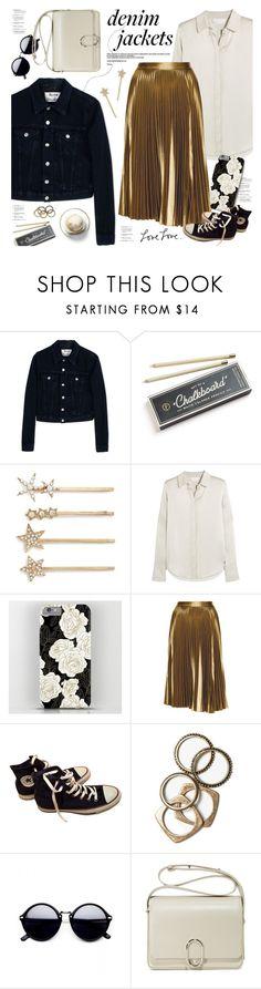 """wardrobe staple: denim jacket"" by jesuisunlapin ❤ liked on Polyvore featuring Acne Studios, Hester & Cook, Tasha, Chloé, A.L.C., Converse, Disney, Rachel Leigh and 3.1 Phillip Lim"