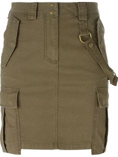 army style cargo skirt