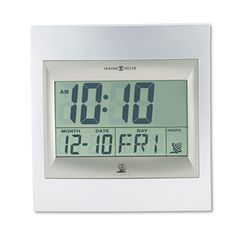 Large Digital Clock, Digital Clock Radio, Desktop Clock, Howard Miller, Clocks For Sale, Tabletop Clocks, Daylight Savings Time, Time Clock, Radio Control