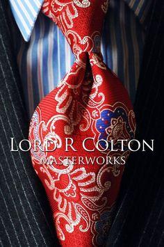Lord R Colton Masterworks Tie - Cartagena Poppy Red Silk Necktie - $195 New #LordRColton #NeckTie
