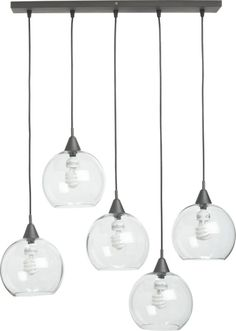 I'd love something like this for above the dining table -- not sure if it'd be enough light though? // firefly pendant lamp in pendant lamps | CB2
