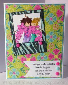 Stamping Bella Uptown Girls Pattie & Dottie friends forever