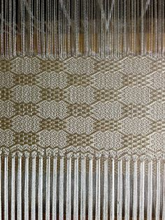 ...from the Strickler book of 8 shaft patterns. It was draft number 154. It said it would be slightly lacy but on the loom I don't seem to have...